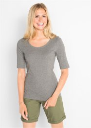 T-shirt med rund hals, 100% bomull, kort arm, bpc bonprix collection