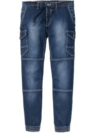 Pull-on jeans, smal passform, avsmalende ben, RAINBOW