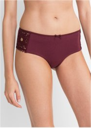 Panty med blondebesetning (3-pakning), bpc bonprix collection