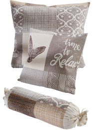 Sengeteppe med patchworktrykk, bpc living bonprix collection