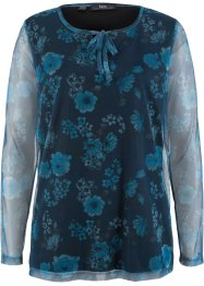 Mesh-topp med blomstertrykk, bpc bonprix collection