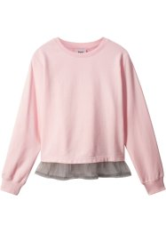 Sweatshirt med innfelt bluse-parti, bpc bonprix collection