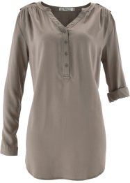 Viskosebluse med V-hals og lang arm, bpc bonprix collection
