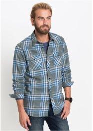 be517bc5 Langermet flanellskjorte, normal passform, John Baner JEANSWEAR
