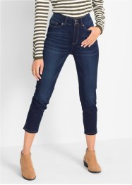 Push-up jeans, 7/8-lang,  med stretch og splitt. Rett passform, bpc bonprix collection