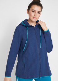 Ribbet sweatjakke, lang arm, bpc bonprix collection