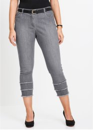 7/8-lang stretch-jeans med frynser, bpc selection