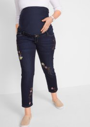 Mammabukse 7/8, Skinny med broderi, bpc bonprix collection