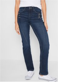 Authentik-Stretch-Jeans, med knapper, STRAIGHT, John Baner JEANSWEAR