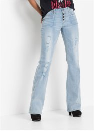 Bootcut-jeans med fletting, RAINBOW