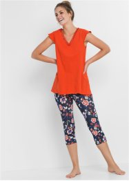 Capri pyjamas med leggings, bpc bonprix collection