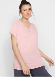 Wellness T-shirt, med flaggermusermer, halv arm, bpc bonprix collection