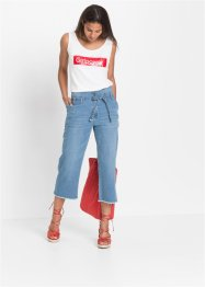 Culotte-jeans med belte, RAINBOW