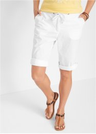 Papertouch-shorts med justerbar lengde, bpc bonprix collection