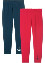 7/8-lang leggings til jente (2-pack), bpc bonprix collection