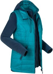 3-i-1 outdoor-vest med integrert fleecejakke, bpc bonprix collection