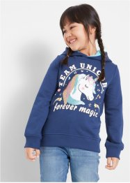 Sweatshirt med hette og paljetter, bpc bonprix collection