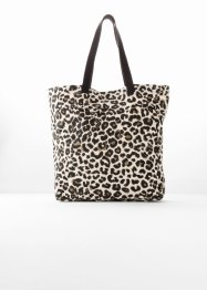 Tekstilveske med leoprint, bpc bonprix collection