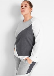 Sweatshirt med kontraster, lang arm, bpc bonprix collection