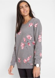 Sweatshirt med blomstertrykk, bpc bonprix collection