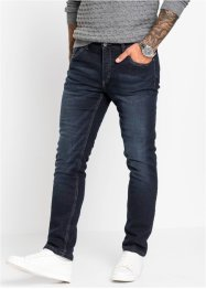 Stretchy termojeans med fleecefôr, Slim Fit Straight, RAINBOW