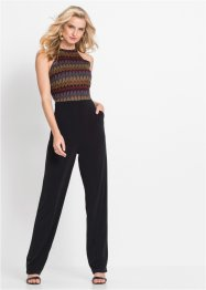 Halterneck jumpsuit med blonde, BODYFLIRT boutique