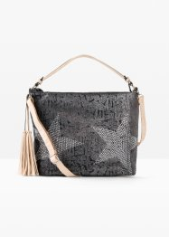 Shopper denim med strass-stener, bpc bonprix collection
