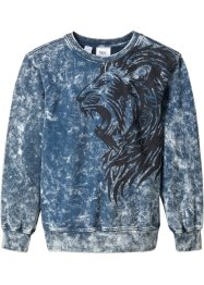 Sweatshirt med vasket effekt, Slim Fit, bpc bonprix collection