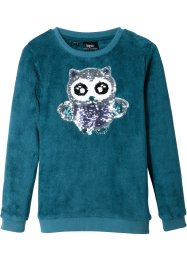 Teddyfleece-topp med paljetter, bpc bonprix collection