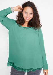 Mamma-/ammebluse med blonde, bpc bonprix collection