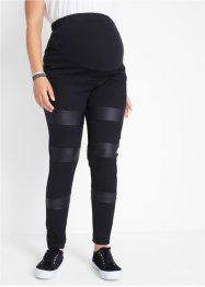 Mammaleggings med PU-innfelling, tung jersey-kvalitet, bpc bonprix collection