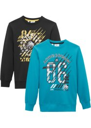 Sweatshirt til gutt (2-pack), bpc bonprix collection