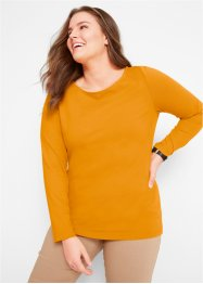 Langermet topp med U-båthals, bpc bonprix collection