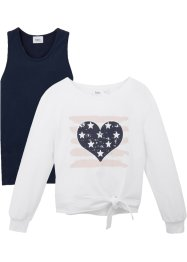 Sweatshirt + topp (2-delt), bpc bonprix collection