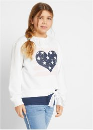 Sweatshirt + topp (2-delt), til jente, bpc bonprix collection