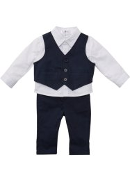Babyskjorte + vest + bukse (3-delt sett), bpc bonprix collection