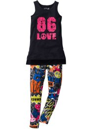 Lang topp + lang jersey-leggings (2-delt sett), bpc bonprix collection