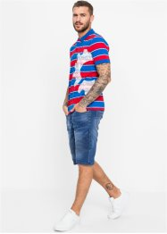 Poloskjorte Slim Fit, kort arm, RAINBOW