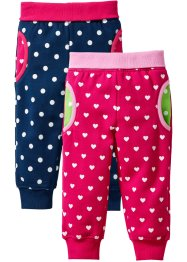 Baby-sweatbukse i økologisk bomull (2-pack), bpc bonprix collection