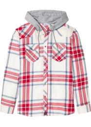 Flanellskjorte med hette RødRutet HERRE | H&M NO