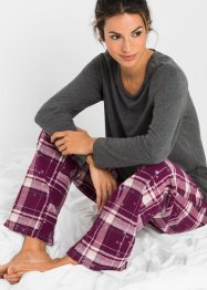 Pyjamas med flanellbukse, bpc bonprix collection