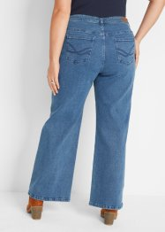 Stretch-jeans, Open end denim, wide leg, John Baner JEANSWEAR