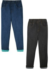Thermojeans til gutt (2-pack) loose fit, John Baner JEANSWEAR