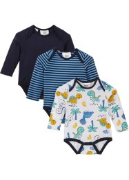 Langermet body til baby, økologisk bomull (3-pack), bpc bonprix collection