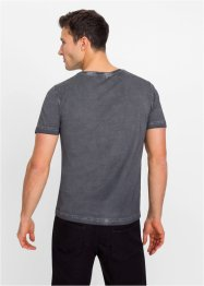 T-shirt i utvasket look, Slim Fit, RAINBOW