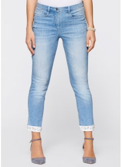 Stretchjeans med broderi, 7/8-lang, bpc selection premium
