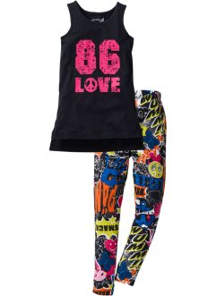 Lang topp + lang jersey-leggings (2 deler, sett), bpc bonprix collection