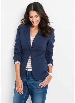 Jersey-blazer i bomull, innsvingt, bpc bonprix collection