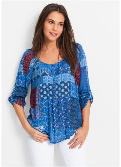 Bluse-tunika, krinklet, lang arm, bpc bonprix collection