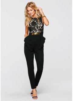 Jumpsuit med blonde på overdel, BODYFLIRT boutique